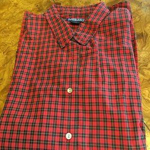 Lands End Size 20W Plaid Shirt